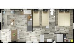 Mobil-home Rideau Les Résidentiels LUGANO DUO